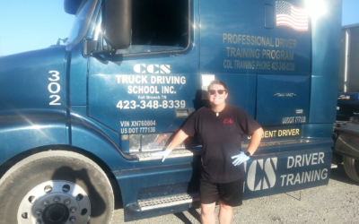 Bonnie passed her CDL exam!