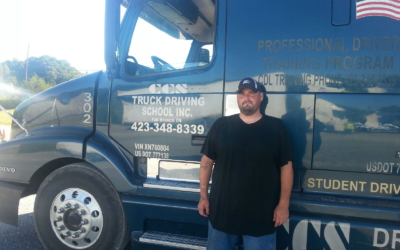 Michael passed his CDL exam!