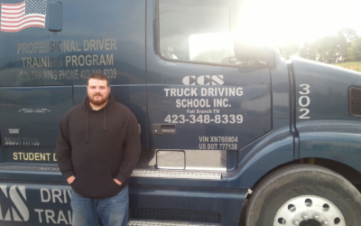 Travis passed his CDL exam!