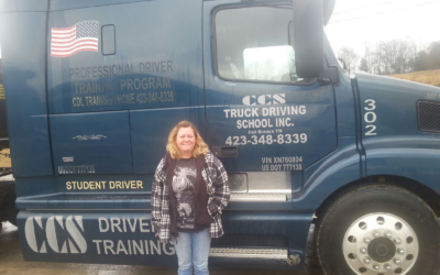 Terri passed her CDL exam!