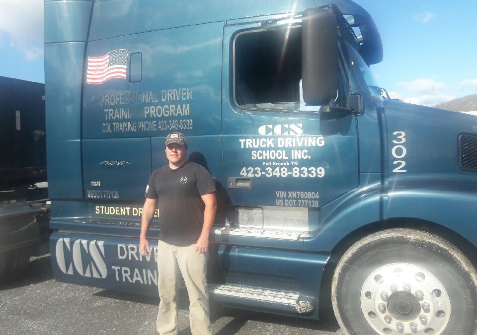 Andrew passed his CDL exam!