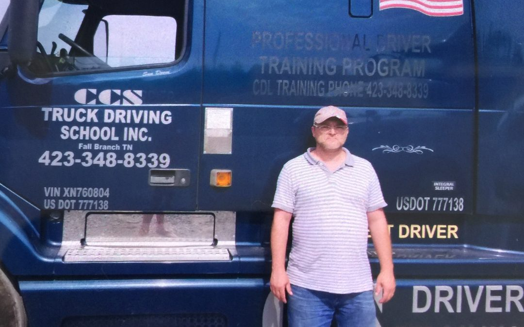 Roy passed his CDL exam!