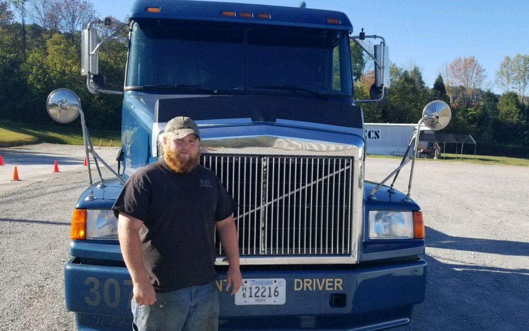 Austin Passed his CDL Exam